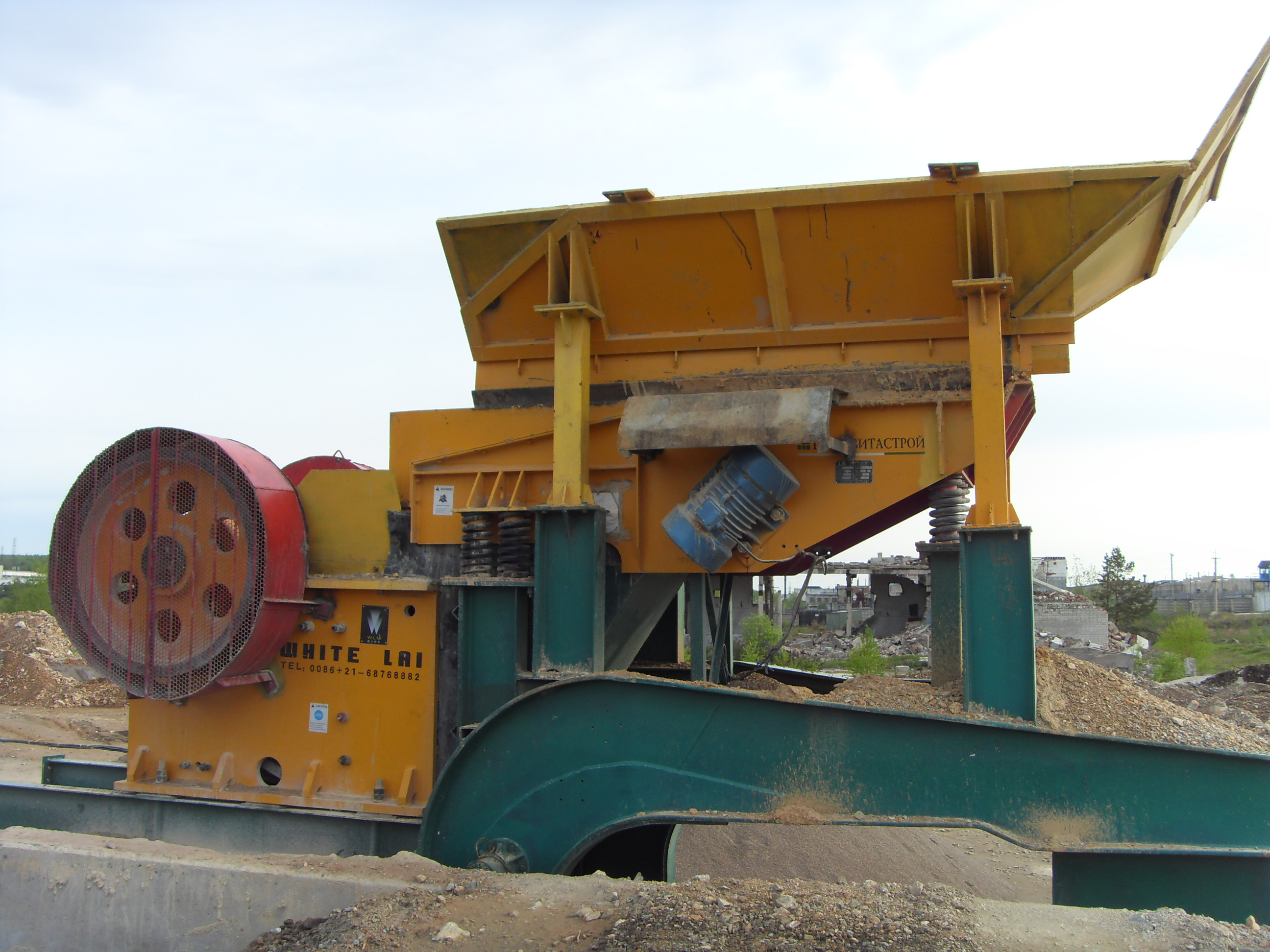 100 t/h River pebble crushing plants in Russia